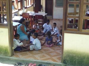 Unterrichtsraum in der Landwirtschaftsschule